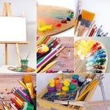 学校和办公用品汇集 免版税图库摄影