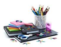 学校和办公用品 库存图片