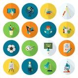 学校和教育图标 免版税图库摄影