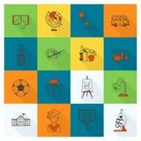 学校和教育图标 向量例证