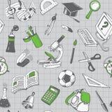 学校和教育无缝的样式 库存照片
