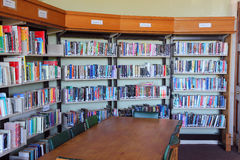学校图书馆。 库存照片