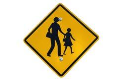 学校在白色背景隔绝的区域标志 免版税库存图片