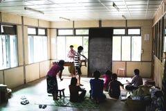 学校在Bagan 库存图片