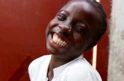 学校女孩在利比里亚 免版税库存图片