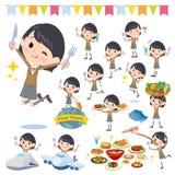 学校女孩布朗Blazer_food节日 库存图片