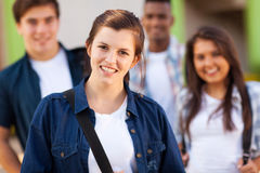 年轻学校学生 免版税库存图片