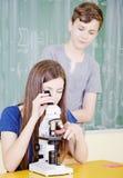 学校学生 免版税库存照片