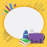学校孩子框架设计传染媒介  库存图片