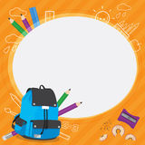 学校孩子框架设计传染媒介  库存照片