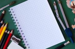 学校工具 免版税图库摄影