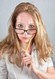 学校性感的教师 免版税库存照片