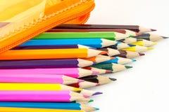 学校或其他的颜色铅笔 图库摄影
