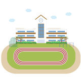 学校教学楼大厦 免版税库存图片