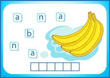 学校教育 学会的英语英国flashcard 我们写蔬菜和水果的名字 词是一场难题比赛为 库存例证
