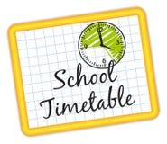 学校时间表 例证IV 免版税图库摄影
