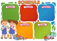 学校时间表主题图象传染媒介例证 库存照片