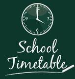 学校时间表 免版税图库摄影