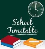 学校时间表 免版税库存图片
