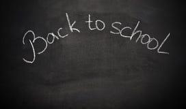 学校有词的粉笔板回到学校 免版税库存图片