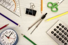 学校构成 免版税图库摄影