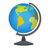 学校桌面地球 库存图片