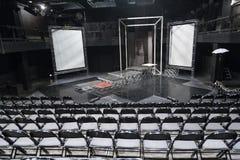 学校演播室MHAT空的剧院场面  免版税库存照片