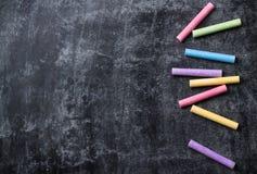 学校片断在老黑黑板用粉笔写 图库摄影
