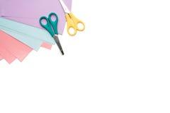 学校用品框架,隔绝在白色 免版税图库摄影