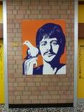 学校的走廊墙壁 库存照片