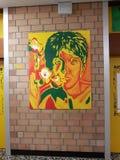 学校的走廊墙壁 免版税图库摄影