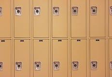学校衣物柜行  库存图片