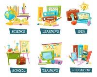 学校训练被设置的教育对象 库存例证