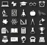 学校象 动画片重点极性集向量 免版税库存图片