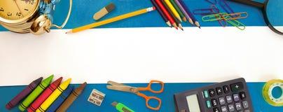 学校辅助部件,文本的空的空间 免版税图库摄影