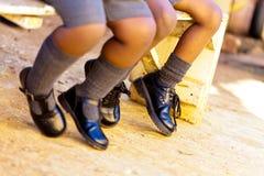 学校鞋子 免版税库存照片
