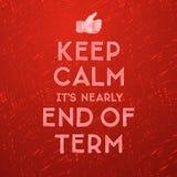 学校,期限的结尾 免版税库存图片