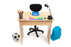 学生书桌-储蓄照片 免版税图库摄影