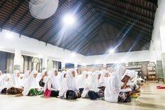 学生伊斯兰教的住宿学校在印度尼西亚 免版税库存照片