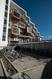 学生住房在欧登塞,丹麦 免版税库存照片