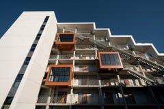 学生住房在欧登塞,丹麦 库存照片