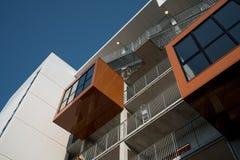 学生住房在欧登塞,丹麦 免版税图库摄影