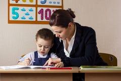 学生和老师 免版税库存照片