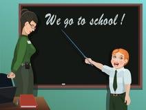 学生回答老师的任务 向量例证