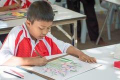 学生图画比赛 库存照片