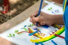 学生图画比赛 图库摄影
