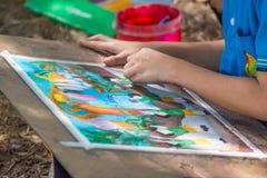 学生图画比赛 免版税图库摄影