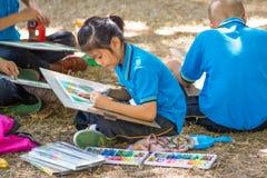 学生图画比赛 免版税库存图片