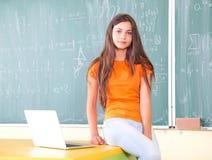 学生在学校 免版税库存照片