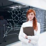 学生在实验室 免版税图库摄影